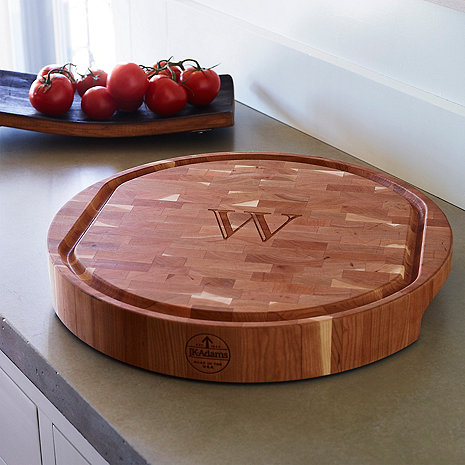 Personalized Cherry End Grain Carving Board