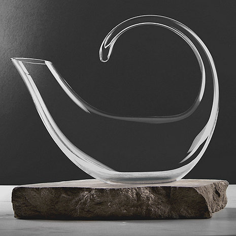 Wine Enthusiast Art Series Crescent Decanter