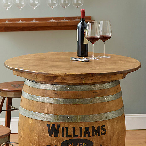 Table Top For Barrel Solid Wine Enthusiast