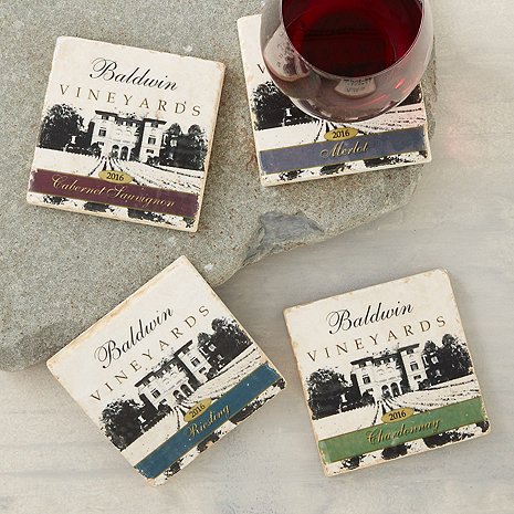 Personalized Estate Marble Coasters