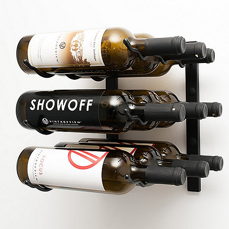 VintageView Wall Series 1 Foot Wine Rack (9 Bottle)
