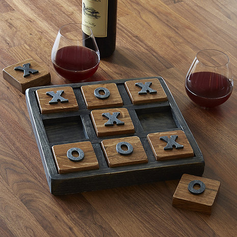 Reclaimed Barrel Stave Tic-Tac-Toe