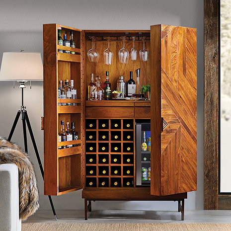 Cheverny Metal Inlay Bar Cabinet