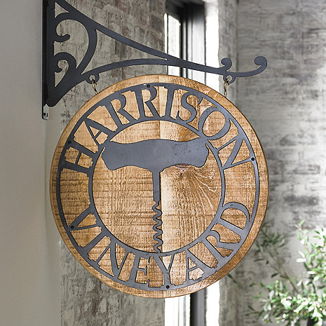 Personalized Reclaimed Barn Wood Vineyard Sign
