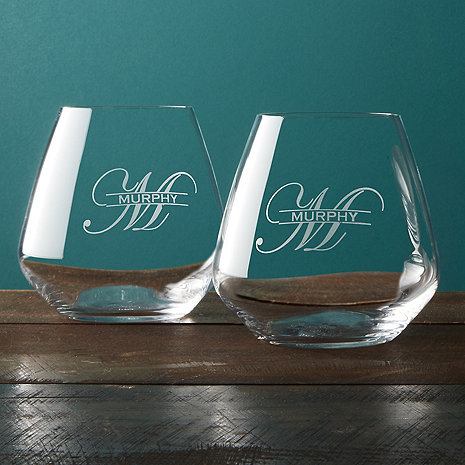 Personalized Wine Tumblers (Set of 2)