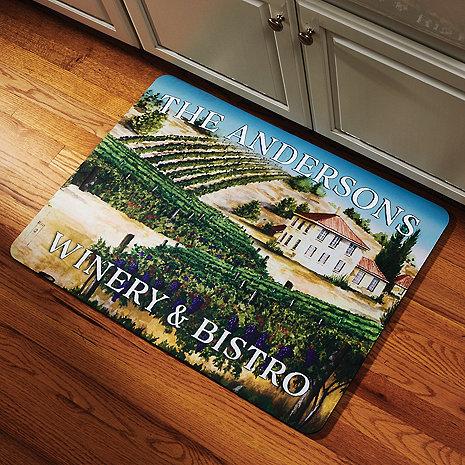 Personalized Winery Bistro Kitchen Mat
