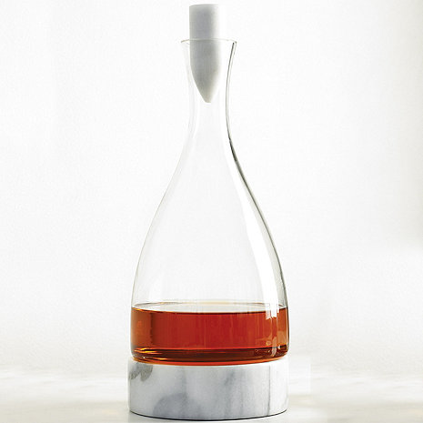 Stone Cold Decanter with Marble Coaster