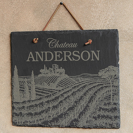 Personalized Chateau Slate Sign