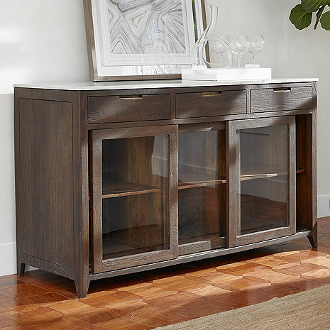 Amador Sliding Glass Door Credenza