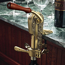 Legacy Corkscrew With Birch Stand Antique Bronze Wine Enthusiast