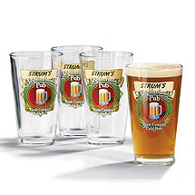 Personalized Neighborhood Beer Glasses (Set of 4)