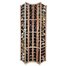 Sonoma Designer Wine Rack Kit - 4 Column Curved Corner Wine Rack w / Display