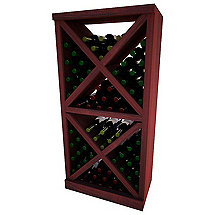 Napa Vintner Stackable Wine Rack - Solid Diamond Cube w / Face Trim