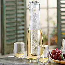 2 Piece Wine Chilling Carafe & Set of 4 Steady-Temp White Wine Tumblers