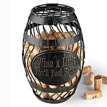 'Wine A Little' Wine Barrel Cork Catcher