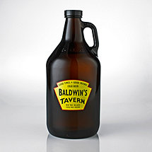 Personalized Yellow Tavern Beer Growler
