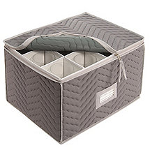 Microfiber Wine Glass Storage Chest