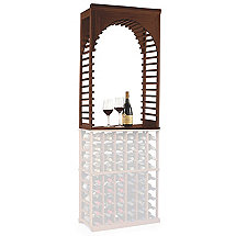N'FINITY Wine Rack Kit - Arch Display (Dark Walnut Finish)