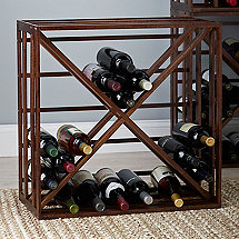 Wooden X Wine Rack