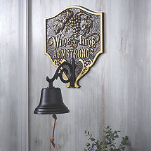 Personalized 'Wine Time' Bell
