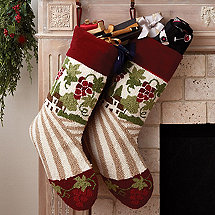 Vineyard Holiday Stocking