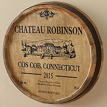 Personalized Chateau Barrel Head Sign