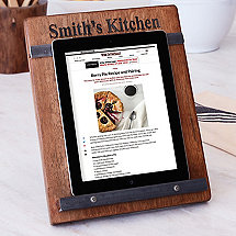 Reclaimed Barrel Tablet & Cookbook Stand