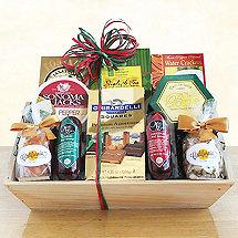 Meat Cheese & Chocolate Abundance Gift Basket