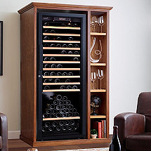XL Custom Wine Cellar Cabinet With Shelves