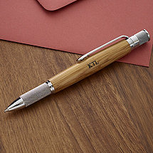 Personalized Authentic Whiskey Barrel Textured Grip Pen