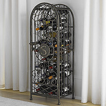 Personalized Antiqued Grapevine Wine Jail (42-Bottle) (4 Ft Height)