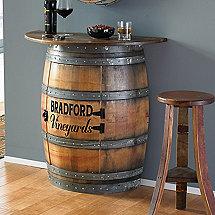 Reclaimed Wine Barrel Vanity Wine Enthusiast