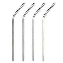 Stainless Steel Cocktail Straws (Set of 4)