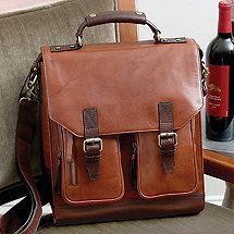 3 Bottle Leather BYO Wine Bag (Chestnut)