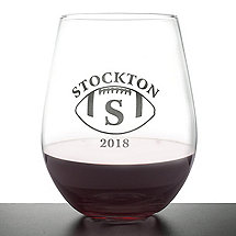 Personalized 'Big Game' Stemless Wine Glasses (Set of 4)