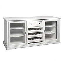 Siena Wine Credenza - Antique White
