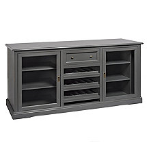 Siena Wine Credenza - Antique Gray