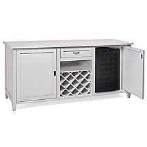 Firenze Wine and Spirits Credenza with 28 Bottle Touchscreen Wine Refrigerator (Antique White)