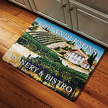 Personalized 'Winery & Bistro' Kitchen Mat
