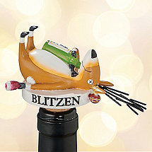 Blitzen Wine Bottle Stopper