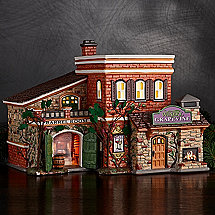 Christmas Village Hand-Painted Light Up Winery