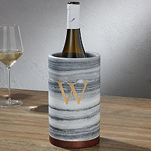 Marble and Wood Wine Bottle Chiller