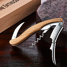 Wine Enthusiast Olivewood Executive Corkscrew