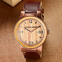 Whiskey Barrel Watch (Leather Band)