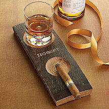 Whiskey Barrel Coasters and Cigar Ashtray