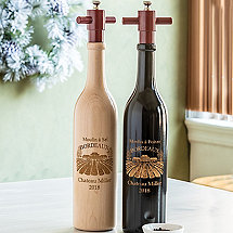 Personalized Wine Bottle Salt and Pepper Mill Set