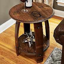 Wine Barrel End Table