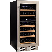 N'FINITY PRO2 SD Dual Zone Wine Cellar Right Hinge (Stainless Steel) (Natural Shelf) (Outlet A)