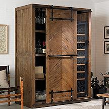 Mesa Sliding Barn Door Armoire With Wine Refrigerator